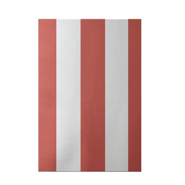 Caymen Stripe Print Seed Indoor/Outdoor Area Rug by Breakwater Bay