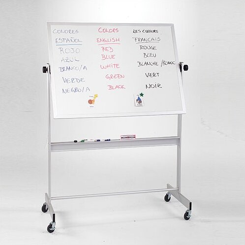 Deluxe Dura-Rite/Cork Reversible Mobile Whiteboard by Best-Rite®