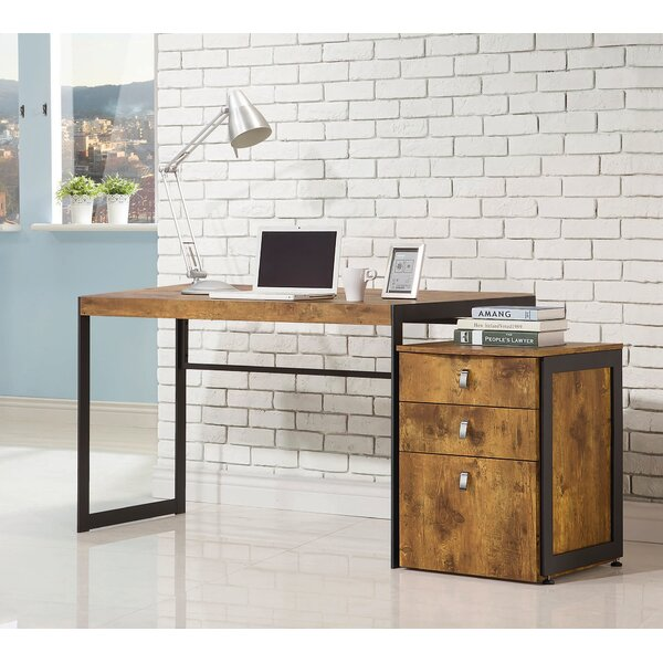 Roybal Writing Desk and Filing Cabinet Set