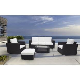 Ptolemy 5 Piece Rattan Sofa Seating Group with Cushions By Orren Ellis