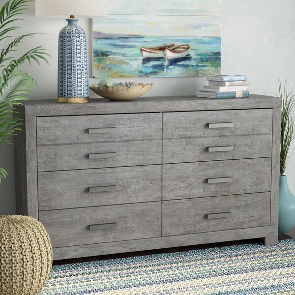 Rosen 6 Drawer Double Dresser by Beachcrest Home Beachcrest Home