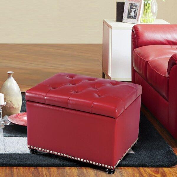 Lyndia Storage Leather Ottoman by Red Barrel Studio