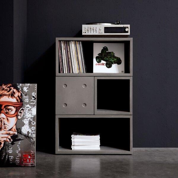 Dice Geometric Bookcase By Lyon Beton
