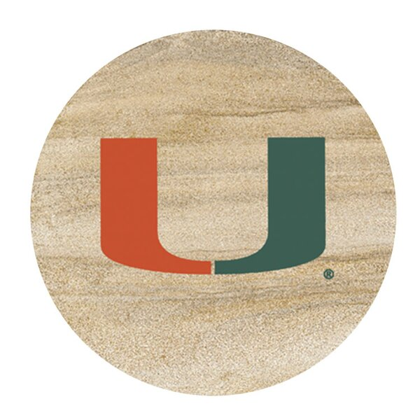 University of Miami Collegiate Coaster (Set of 4) by Thirstystone