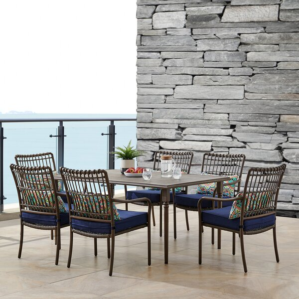 Ritchie 7 Piece Dining Set with Cushions by Bayou Breeze