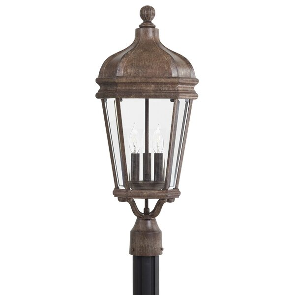 Harrison Large Outdoor 3-Light Lantern Head by Great Outdoors by Minka