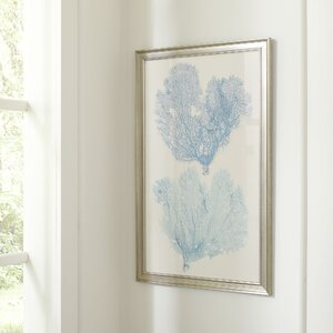 Azure Coral Framed Print I by Birch Lane™