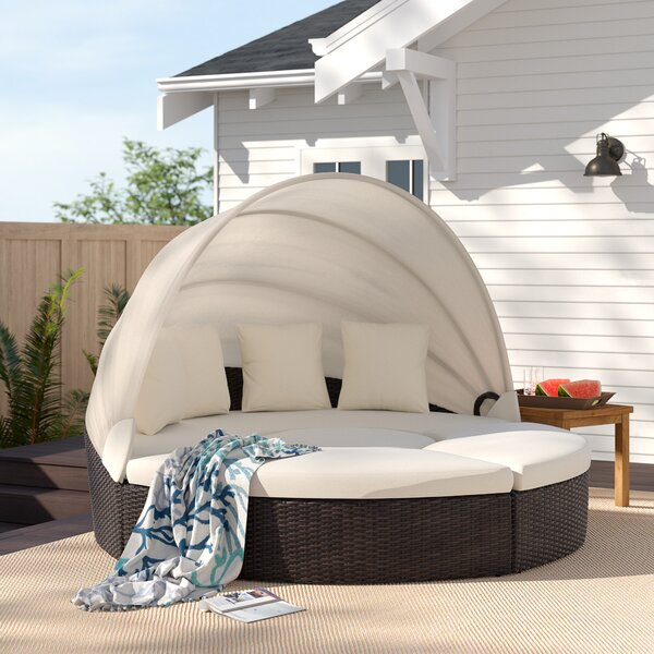 Antigua Patio Daybed with Cushions by Rosecliff Heights Rosecliff Heights