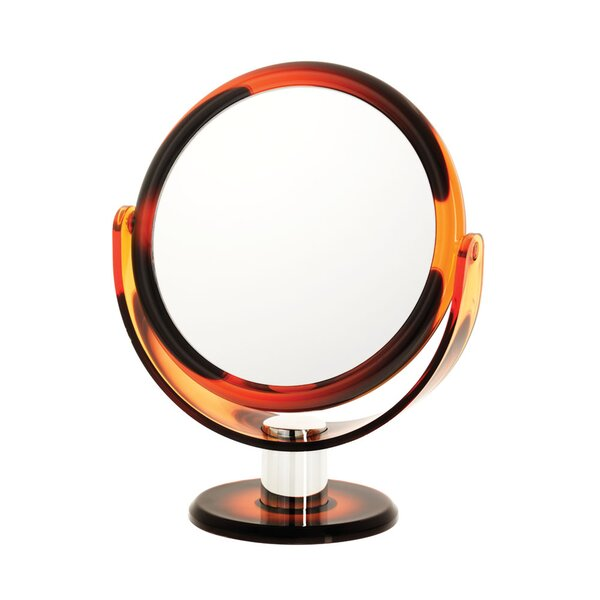 Tortoise 10x Round Vanity Mirror by Danielle Creations
