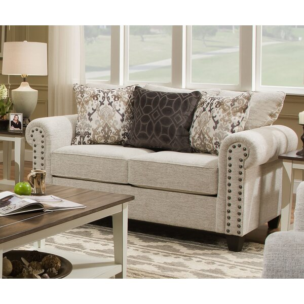 Modern Collection Simmons Upholstery Merseyside Loveseat by Three Posts by Three Posts