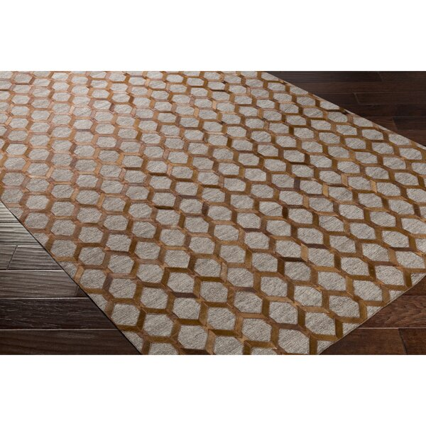 Rexburg Hand-Crafted Brown/Neutral Indoor Area Rug by Trent Austin Design