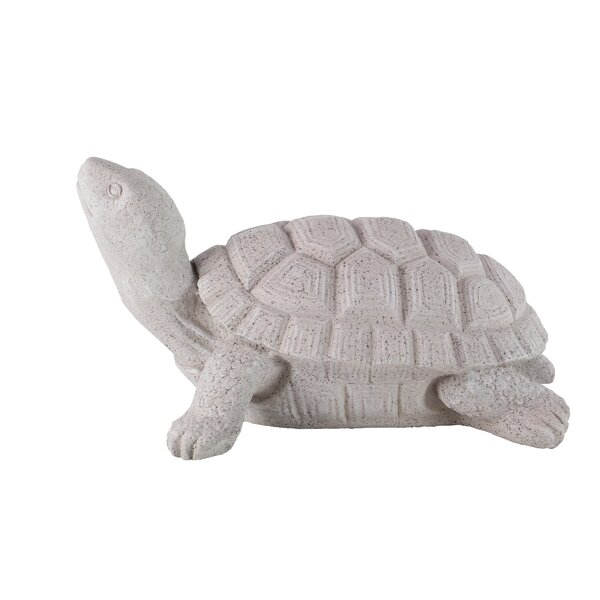 Stenger Contemporary Smiling Turtle Resin Figurine by Winston Porter