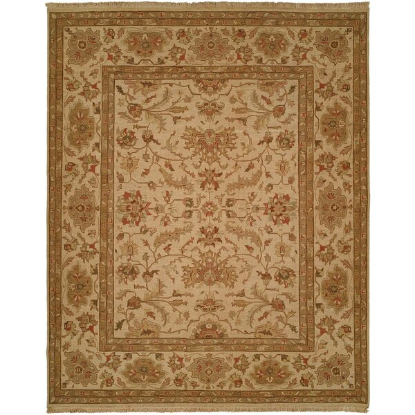 Hand-Knotted Brown/Beige Area Rug by Meridian Rugmakers