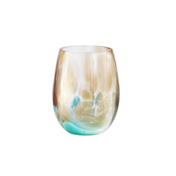 Simone 18.5 oz. Stemless Wine Glass (Set of 4) by Fitz and Floyd
