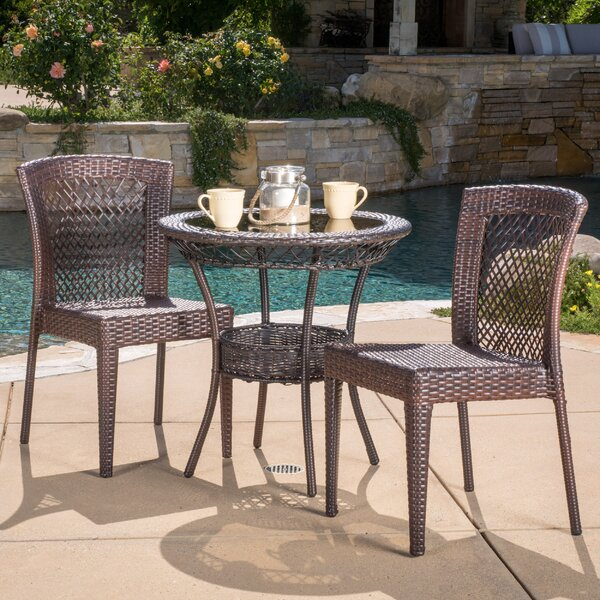 Tuers 3 Piece Bistro Set by Highland Dunes