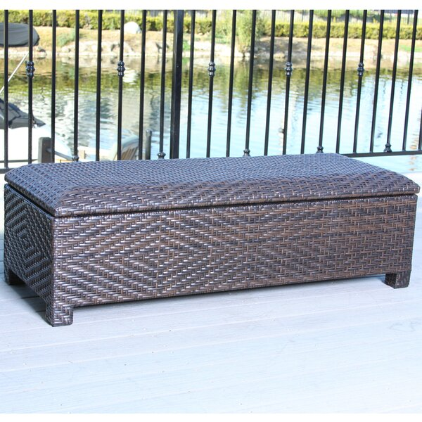Dedman Wicker Storage Bench by Bay Isle Home Bay Isle Home