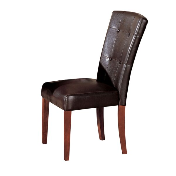 Malave Genuine Leather Upholstered Dining Chair (Set of 2) by Winston Porter