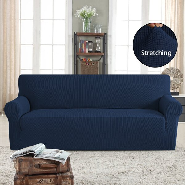 Stretch Box Cushion Sofa by Symple Stuff