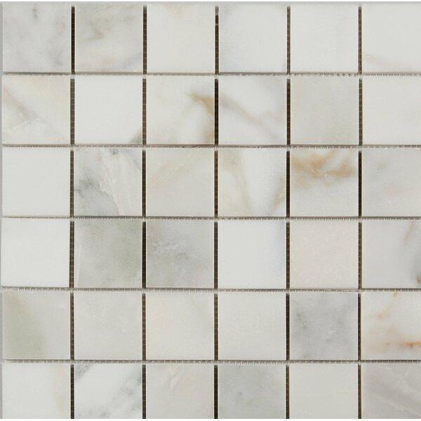 2 x 2 Mosaic Tile in Calacatta Oro by Ephesus Stones