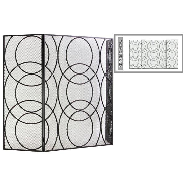 3 Panel Steel Fireplace Screen by Urban Trends
