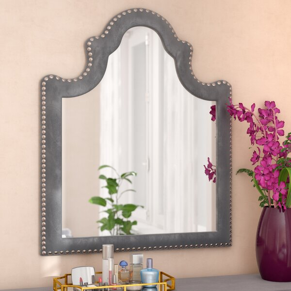 Spence Velvet Arched Dresser Mirror by Rosdorf Park