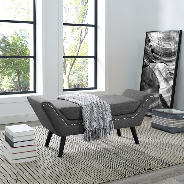Engli Upholstered Bench By Latitude Run by Latitude Run Today Only Sale