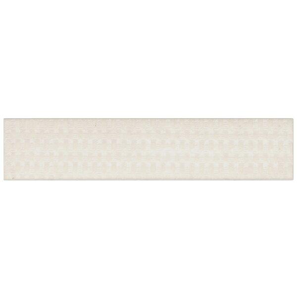 Aluna 2 x 9.5 Porcelain Splitface Tile in White by EliteTile