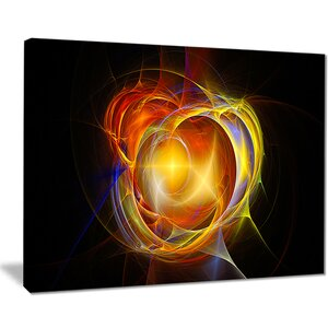 'Supernova Explosion in Black' Graphic Art Print on Canvas by East Urban Home
