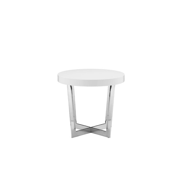 Oyster End Table by Brayden Studio