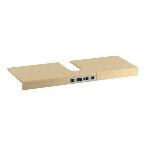 Adjustable Shelf with Electrical Outlets for 48 Tailored Vanities with 2 Doors by Kohler