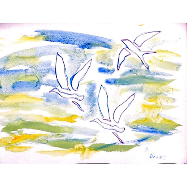 Three Gulls Placemat (Set of 4) by Betsy Drake Interiors