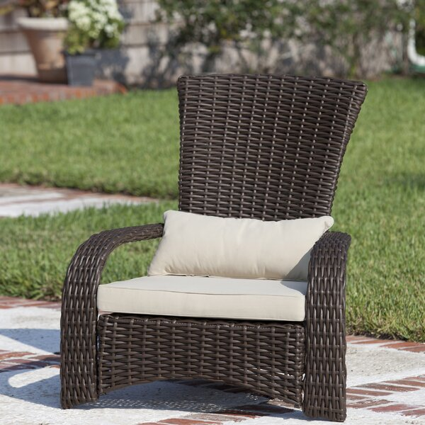 Deluxe Coconino Wicker Chair with Cushion by PatioSense