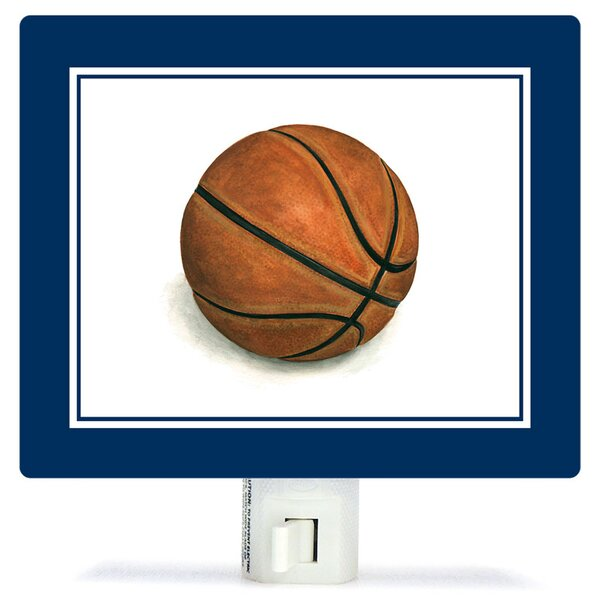 Non-Personalized Sports and Games Basketball Canvas Night Light by Oopsy Daisy