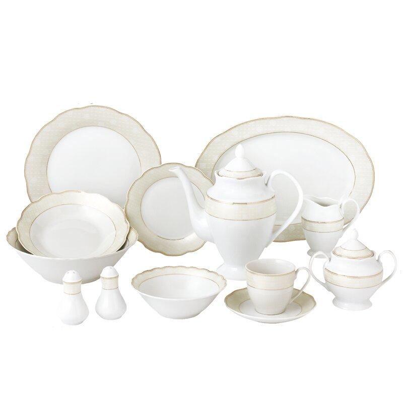 Wavy Dinnerware Set Service for 8  sc 1 st  Wayfair & Lorren Home Trends Wavy Dinnerware Set Service for 8 \u0026 Reviews | Wayfair