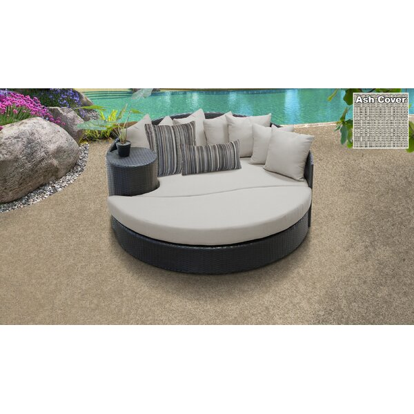 Medley Patio Daybed with Cushions by Rosecliff Heights