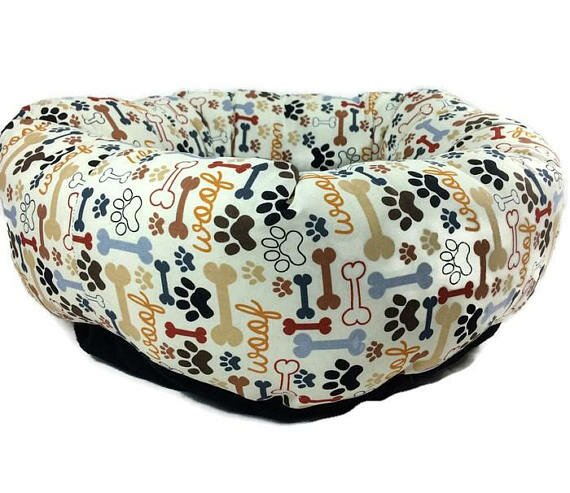 Paws and Bones Round Bolster by East Urban Home