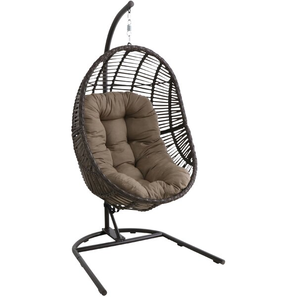 Scott Wicker Hanging Egg Swing Chair with Stand by Bayou Breeze Bayou Breeze