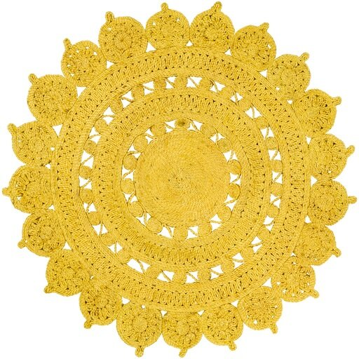 Sartain Hand-Woven Yellow Area Rug by August Grove