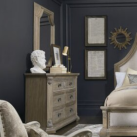 Jacey 6 Drawer Double Dresser with Mirror by One Allium Way
