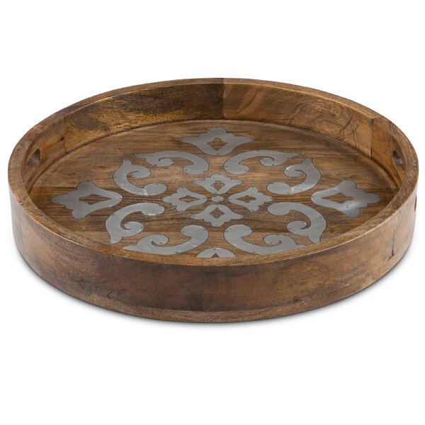 Mango Wood Round Heritage Tray by The GG Collection