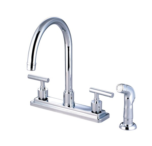 Sydney Double Handle Kitchen Faucet with Side Spray by Elements of Design