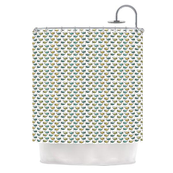 Spring Stem Shower Curtain by KESS InHouse