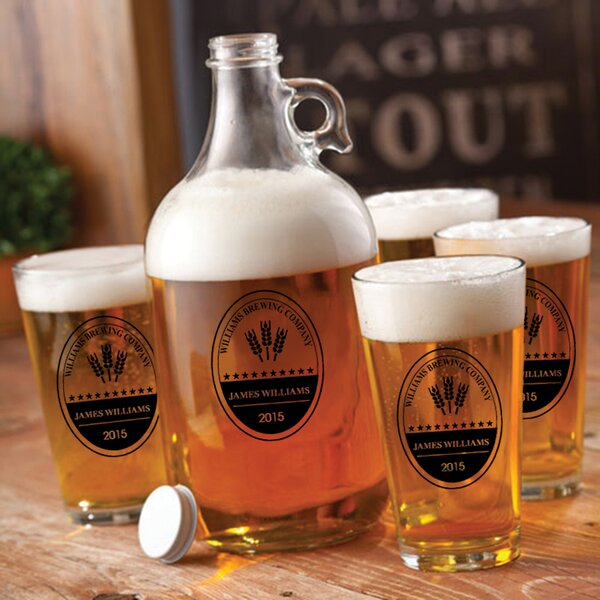 Brewing Company Personalized 5 Piece Beverage Serving Set by JDS Personalized Gifts