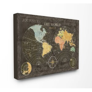 Discover the World Graphic Art on Canvas by Stupell Industries