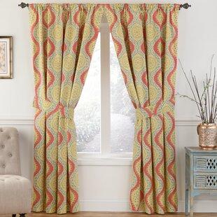 Moonlight Medallion Nature/Floral Room Darkening Thermal Rod Pocket Single  Curtain Panel