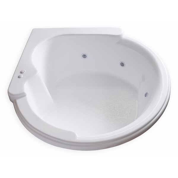 Hygienic Aqua Massage 64 x 59 Whirlpool Bathtub by Carver Tubs