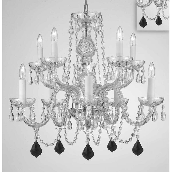 Melnick 10 - Light Candle Style Tiered Chandelier by House of Hampton House of Hampton
