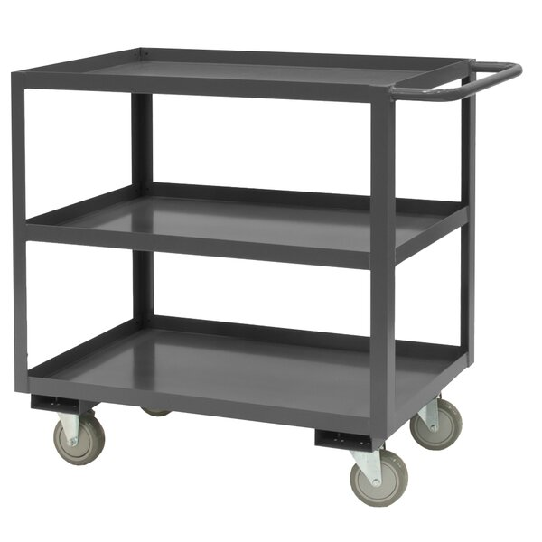 37.63 H x 60 W x 30 D 14 Gauge Steel Rolling Service Stock Cart by Durham Manufacturing