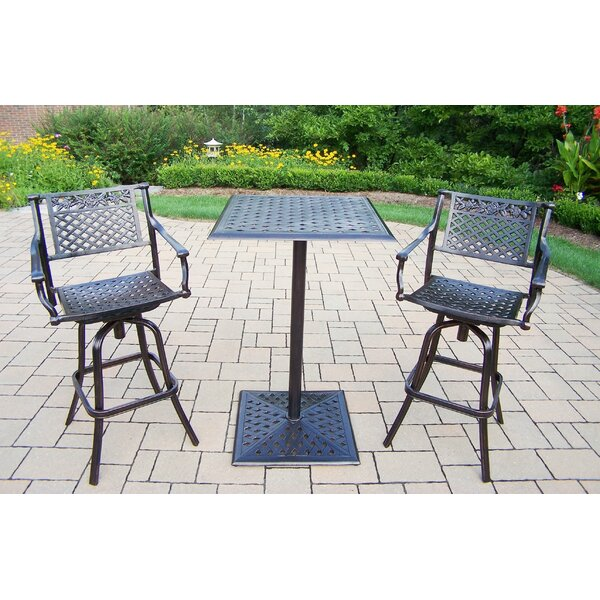 Rose 3 Piece Bar Height Dining Set by Oakland Living