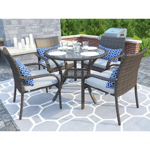 Modern  Bennington 5 Piece Dining Set With Cushions By Sol 72 Outdoor Cool